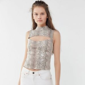 Urban Outfitters Faux Snakeskin Cutout Tank Top